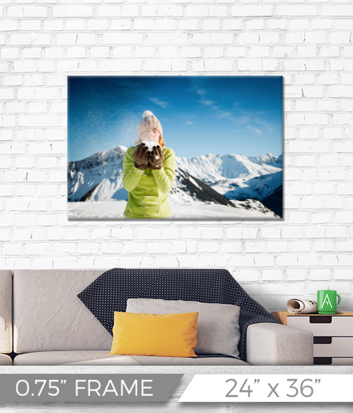 "24"" x 36"" Full Color Printed Canvas - 0.75"" Frame"