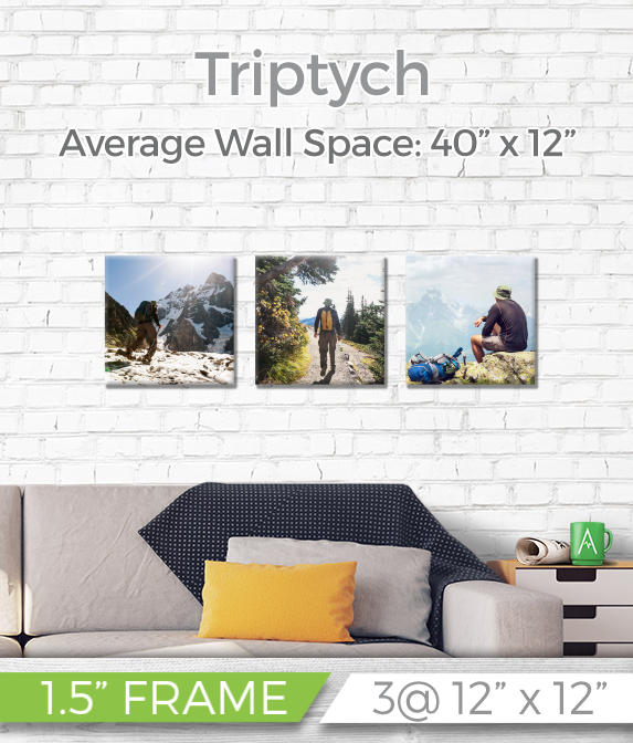 "Triptych 40"" x 12"" - Printed Canvas"