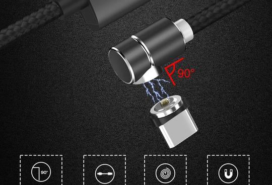 360º Magnetic USB Charging Cable