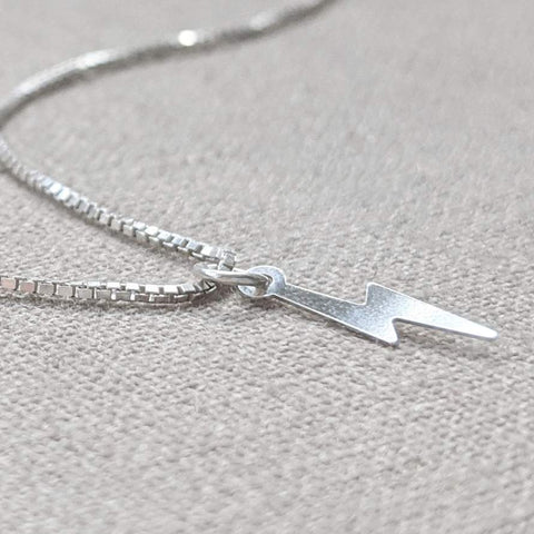 Silver Lightning Bolt Necklace