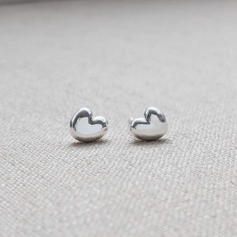 Sterling Silver Heart Stud Earring