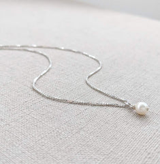 Freshwater Pearl and Silver Necklace
