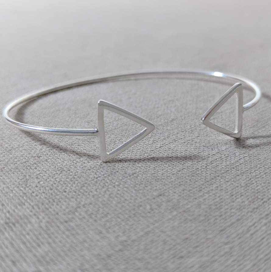 Sterling Silver Triangle Cuff
