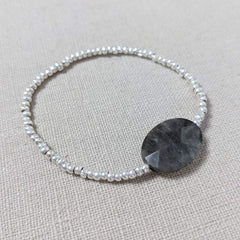 Labradorite and Thai Silver Bracelet