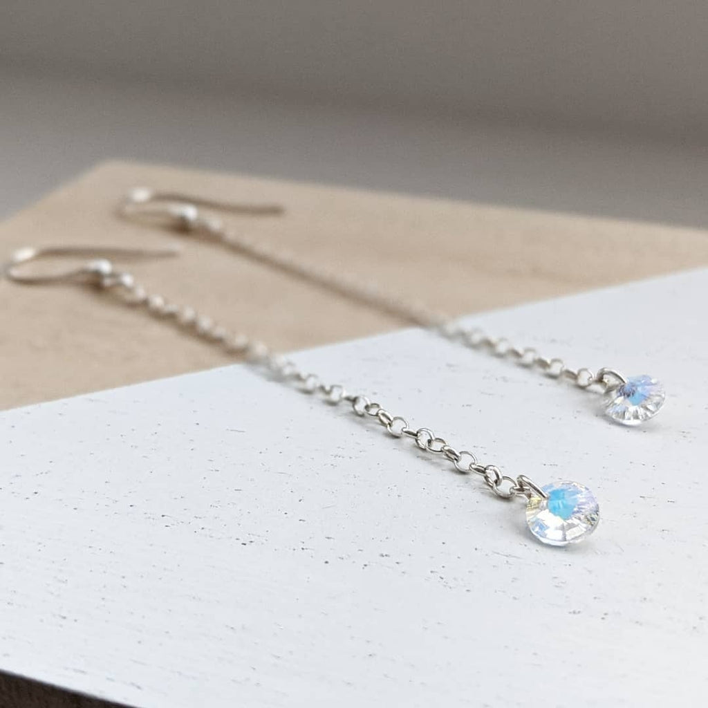 Sterling Silver Swarovski Drop Earring