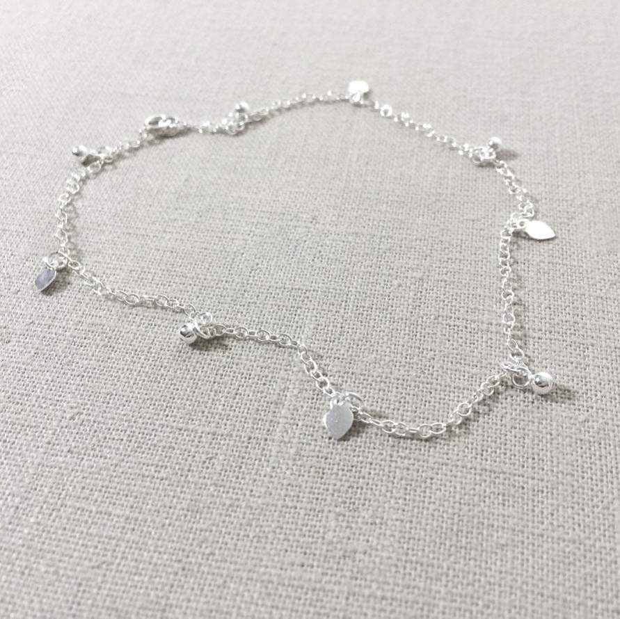 Sterling Silver Mini Charm Anklet