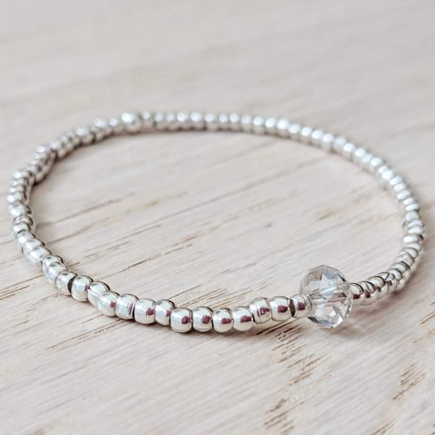 Thai Silver and Swarovski Bead Bracelet