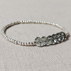 Swarovski Crystal and Thai Silver Bracelet