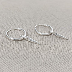 Micro Hoop and Spike Earring