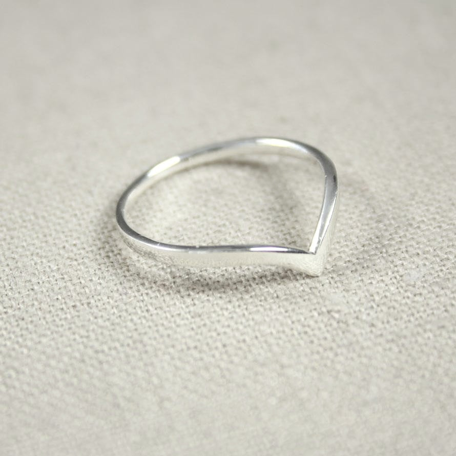 Sterling Silver V Shape Ring