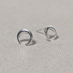 Sterling Silver Horn Stud Earrings