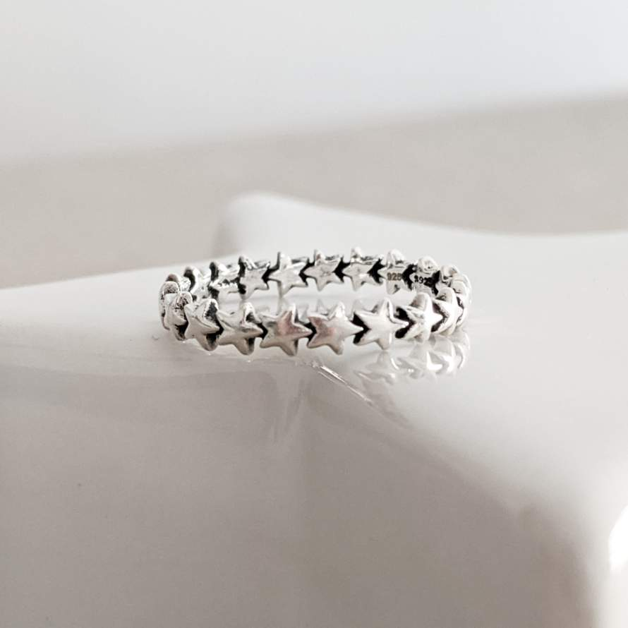 Sterling Silver Multi Star Ring