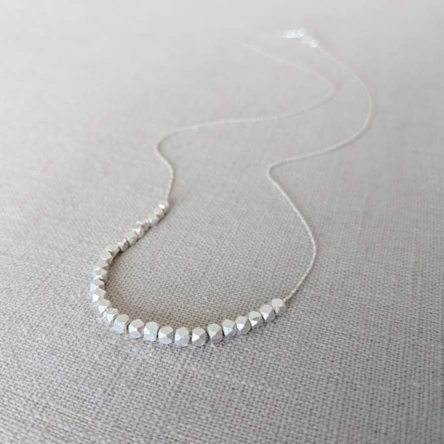 Thai Silver Beaded Necklace