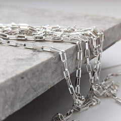 Sterling Silver Open Link Chain Necklace