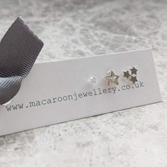 Mixed Stud Earring Trio - Stars