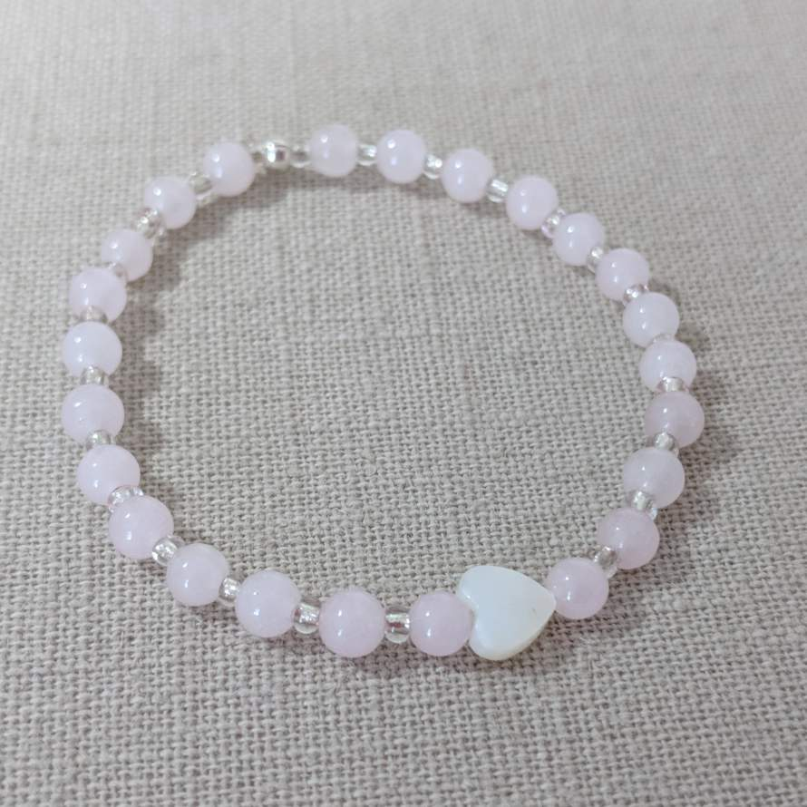 Mini Macaroon Rose Quartz Bracelet