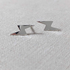 Sterling Silver Lightning Bolt Earring