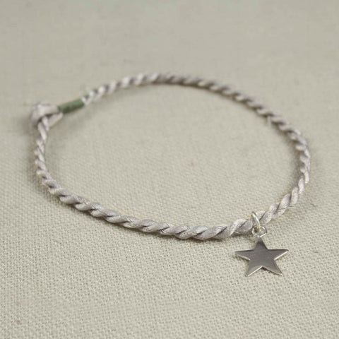 Star and Cord Friendship Bracelet