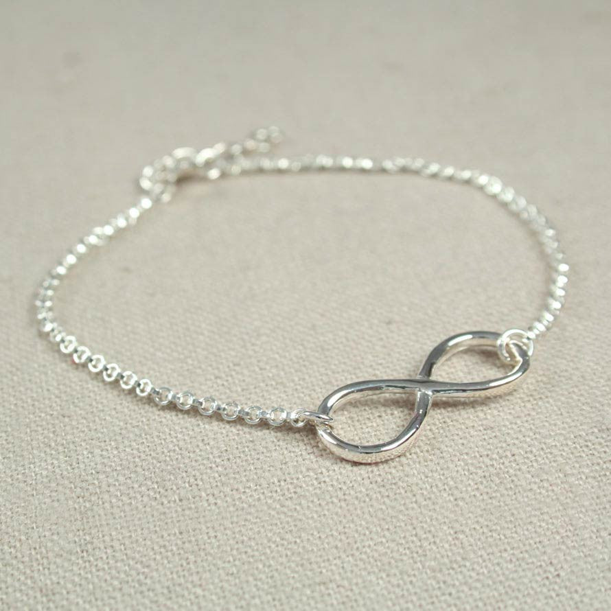 and super anklet infinity chain front alex ani bracelet pull