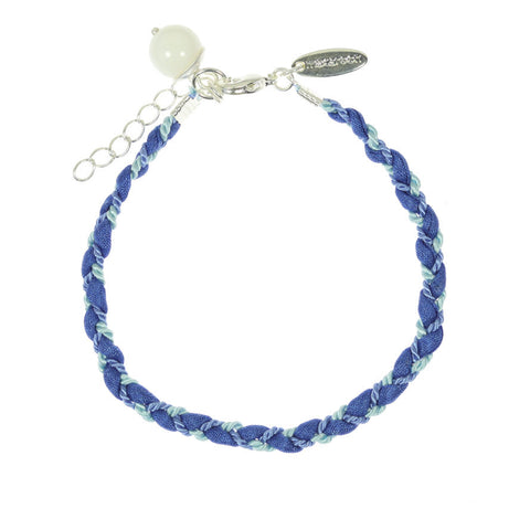 Blue Silk Mix Friendship Bracelet