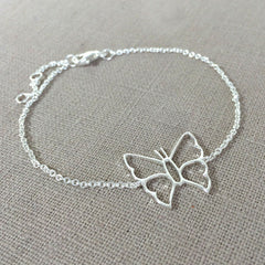 Butterfly Bracelet in Sterling Silver