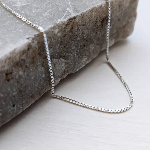 Sterling Silver Venetian Box Chain Necklace
