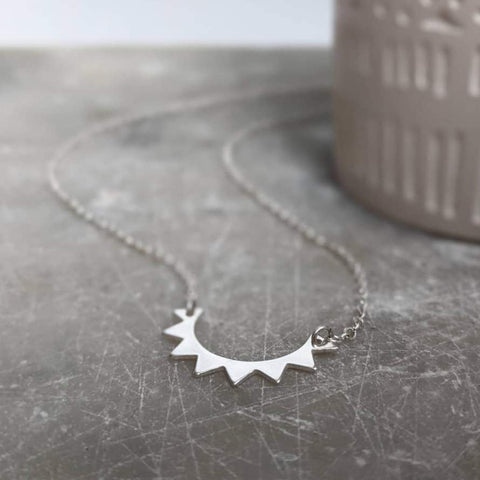 Sterling Silver Half Sun Necklace