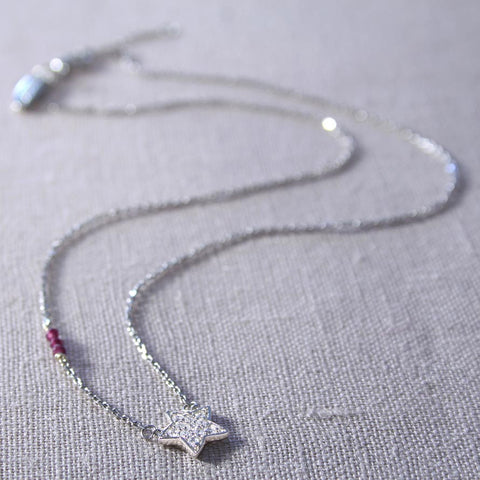 Star Charm Necklace in Sterling Silver