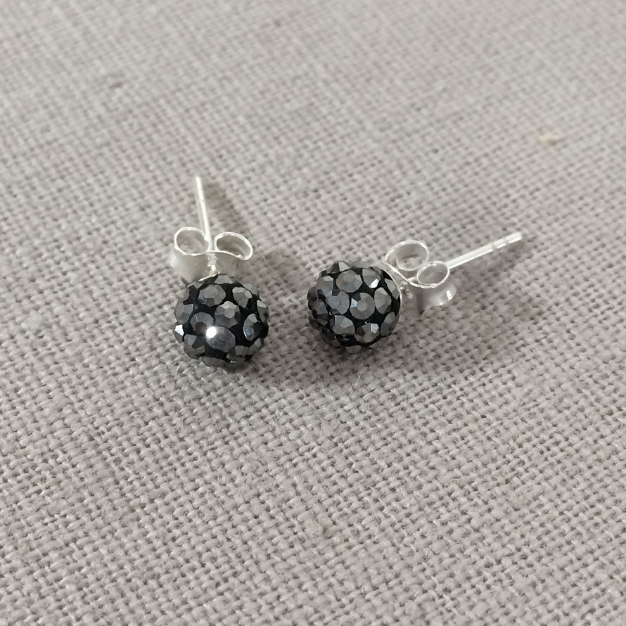 dbde612bf Sterling Silver and Hematite Studs | Handmade by Macaroon Jewellery