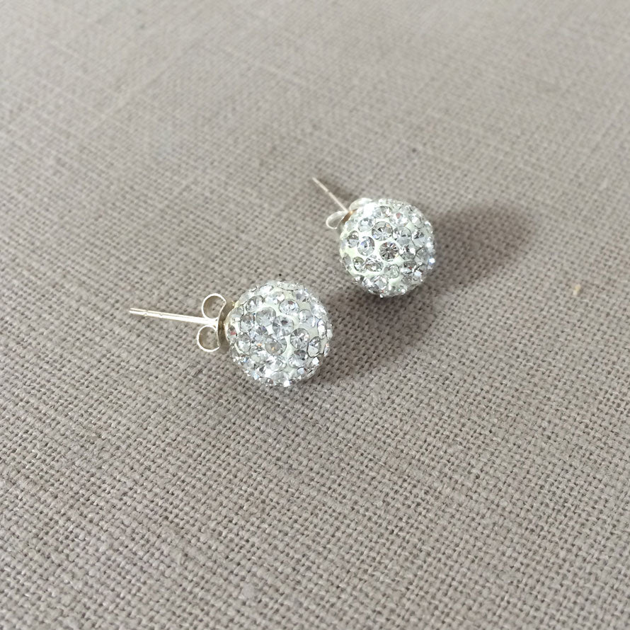 Sterling Silver and Swarovski Crystal Earring