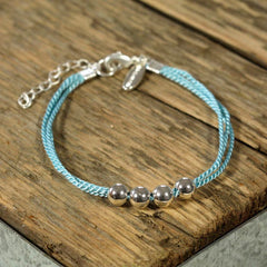 Sterling Silver Ball Friendship Bracelet