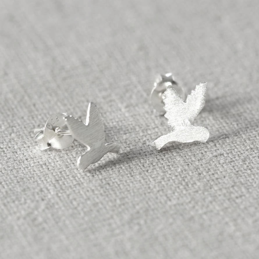 Sterling Silver Tiny Bird Earring