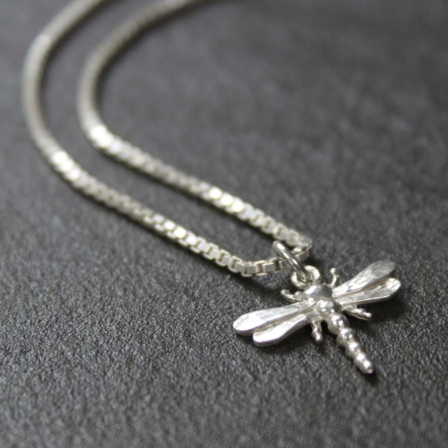 thumb pendant dragonfly dainty products silver sterling img necklace