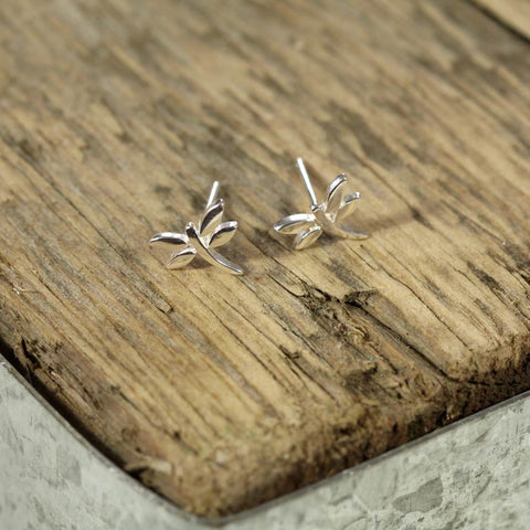 Sterling Silver Dragonfly Stud Earring