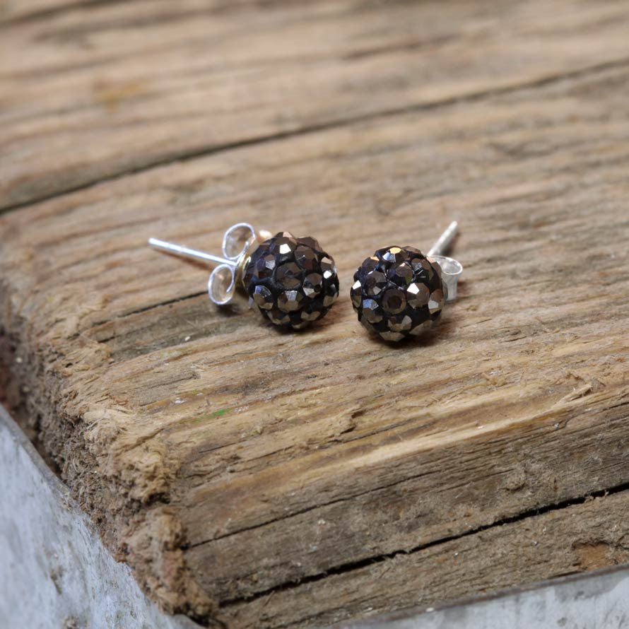 Sterling Silver and Hematite Stud Earring