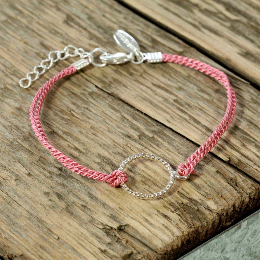 Sterling Silver Loop Friendship Bracelet