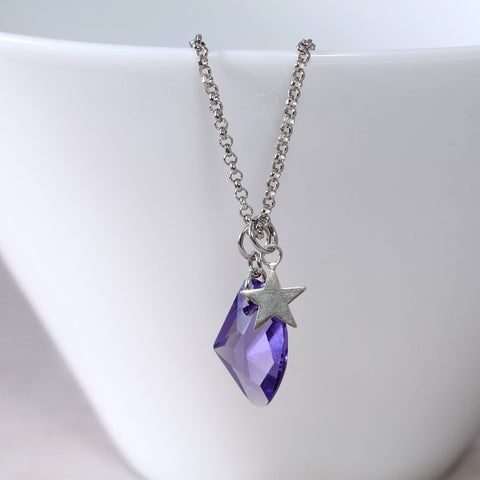 Tanzanite Swarovski and Star Pendant