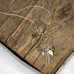 Thai and Sterling Silver Charm Necklace