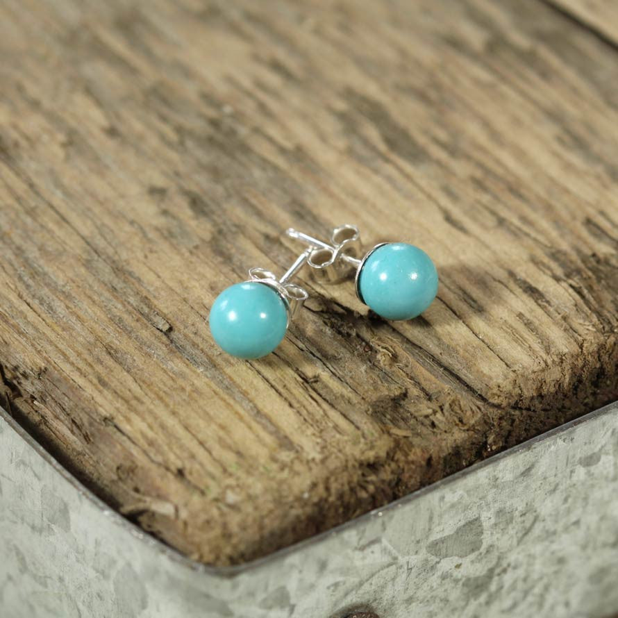 Turquoise and Sterling Silver Earring