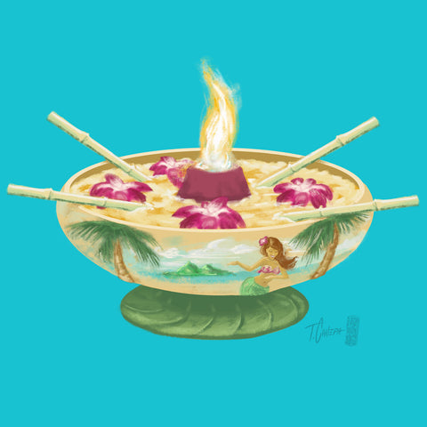 "Volcano Bowl - Signed and Numbered Print - 24"" x 24"""