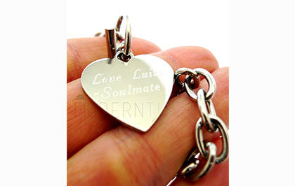 Stainless Steel Personalized Engraved Heart Bracelet - ModernTimez Gift