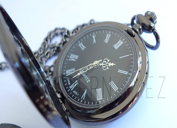 Personaliezd Gunmetal Finished Pocket Watch - ModernTimez Gift