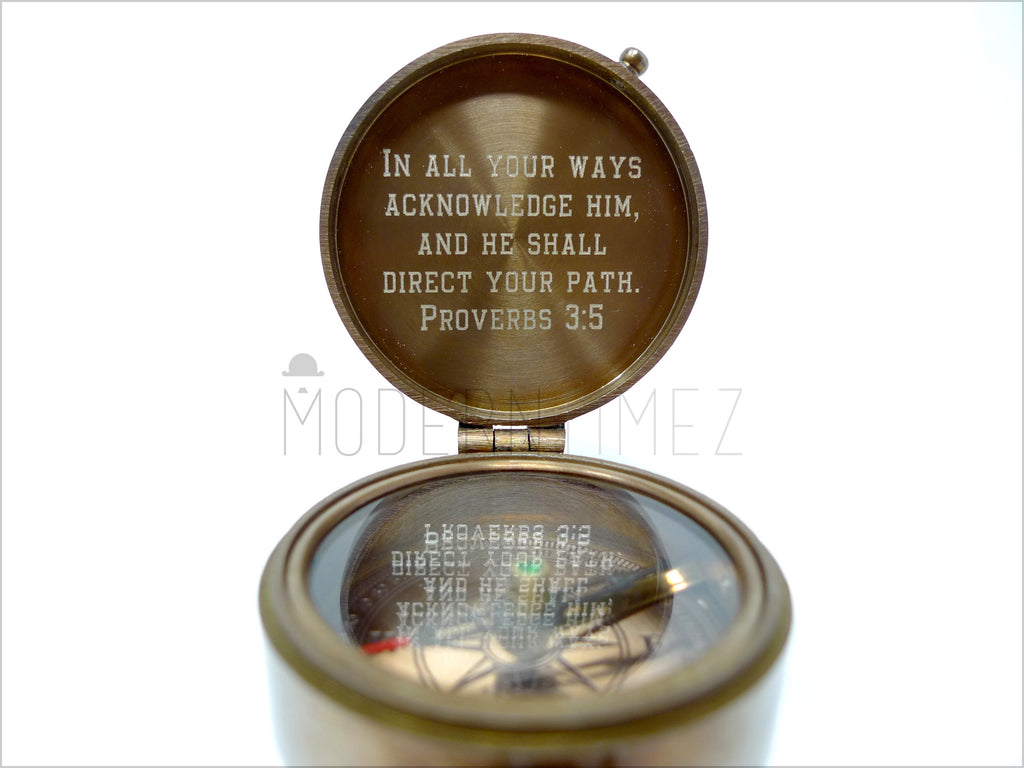 Personalized Compass, Special Gift for Christmas, Anniversary Gift,Gift for Grandchild, Boyfriend gift, God father. - ModernTimez Gift