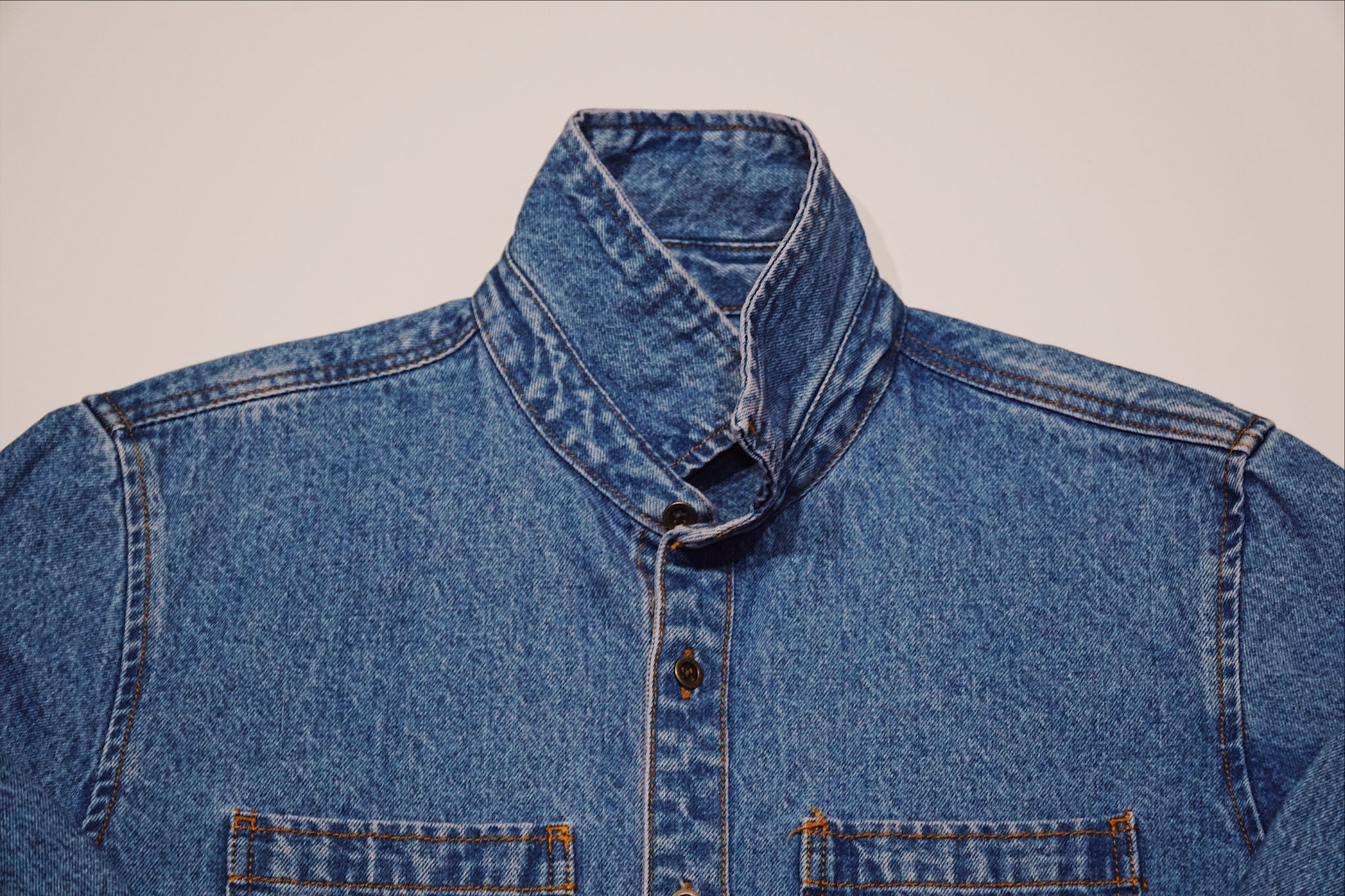 RAW SHELL TOP - DENIM BLUE