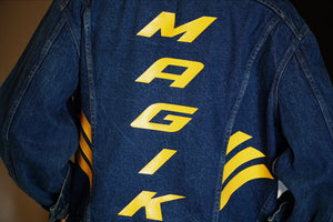 magikusa - MAGIK REBORN VTG DENIM JACKET - BLUE GOLD -