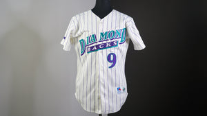 Arizona diamondbacks pinstriped white 90's