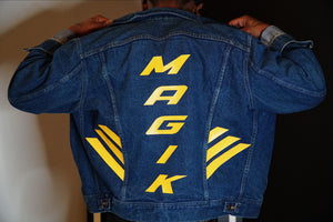 MAGIK REBORN VTG DENIM JACKET - BLUE GOLD