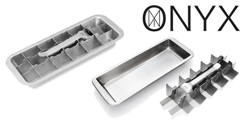 Onyx Stainless Steel Ice Cube Trays