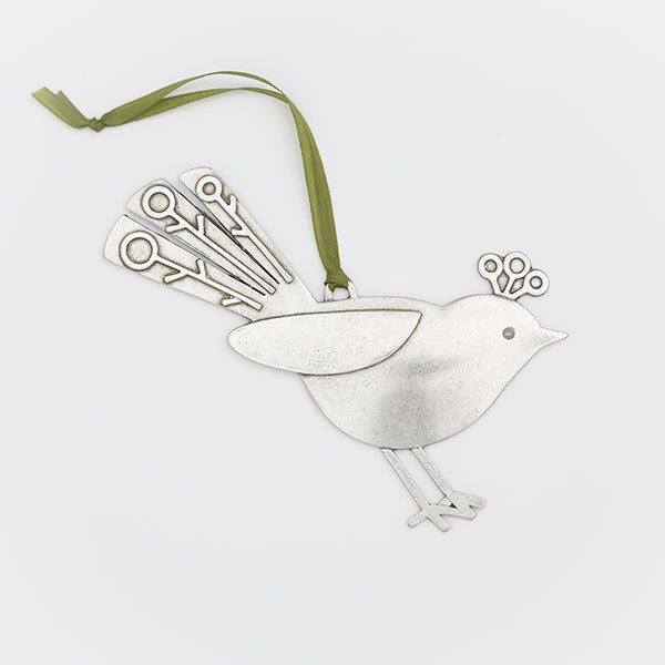 Fancy Bird Ornament (right facing)