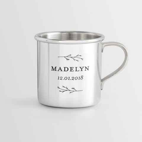 Personalized Heirloom Baby Cup - Botantic